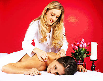 Photograph - Special Spa Massage by Larry Oskin