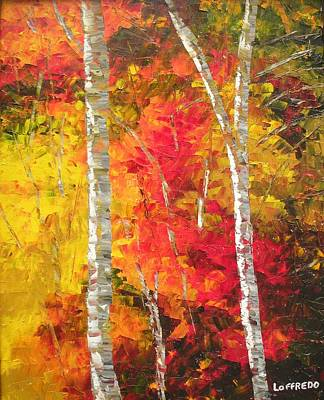 Smoky Mountains Painting - Spectacular Fall Foliage by Ralph Loffredo