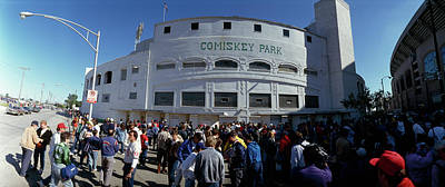 Comiskey Photograph - Spectators In Front Of A Baseball by Panoramic Images