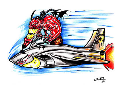 Drawing - Speed Demon by Big Mike Roate