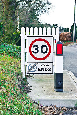 Traffic Enforcement Photograph - Speed Limit by Tom Gowanlock