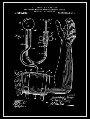 Nurse Shark Mixed Media - Sphygmomanometer by Dan Sproul