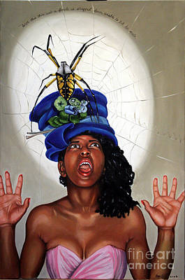 Painting - Spider Hat by Shelley Laffal