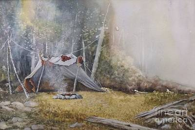 Spike Camp Art Print by Lynne Parker