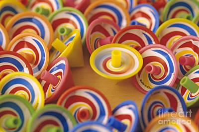 Spinning Tops Art Print by Jim Corwin