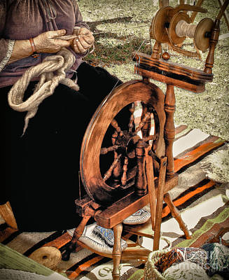 Spinning Wool Art Print