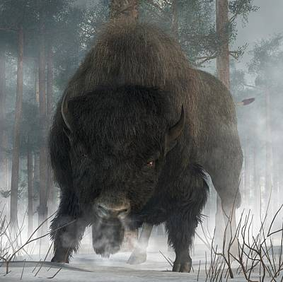 Bison Digital Art - Spirit Of Winter by Daniel Eskridge