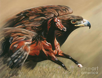 Wall Art - Painting - Spirits Take Flight by Kim McElroy
