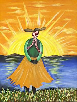 Gullah Geechee Painting - Spiritual Awakening by Patricia Sabree