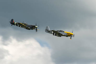 Photograph - Spitfire And Mustang by Gary Eason