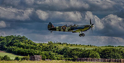 Machine Photograph - Spitfire by Martin Newman