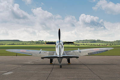 Photograph - Spitfire On Dispersal by Gary Eason