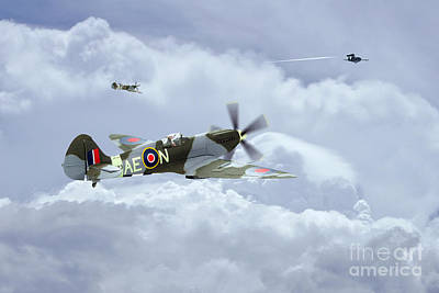 Have A Cupcake - Spitfire XIV  V1 Hunter by Airpower Art
