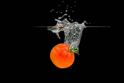 Photograph - Splashing Tomato by Peter Lakomy