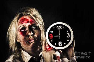 Final Hour Photograph - Spooky Monster With Alarm Clock. Belated Departure by Jorgo Photography - Wall Art Gallery