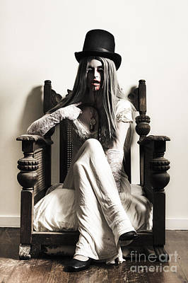 Photograph - Spooky Vampire Woman. High Fashion Horror by Jorgo Photography - Wall Art Gallery