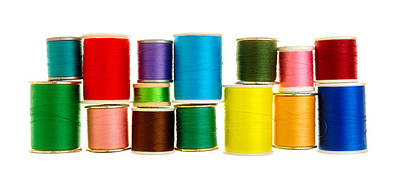Seamstress Photograph - Spools Of Thread by Jim Hughes