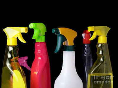 Spray Bottles Art Print by Sinisa Botas