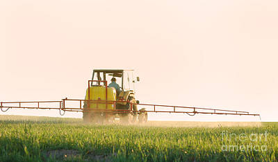 Grain Photograph - Spraying The Crop by Michal Bednarek