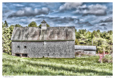 Spring Barn Art Print by Richard Bean
