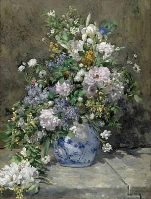Cambridge Painting - Spring Bouquet by Pierre-Auguste Renoir