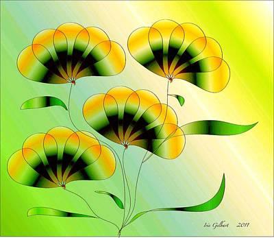 Digital Art - Spring Flowers by Iris Gelbart