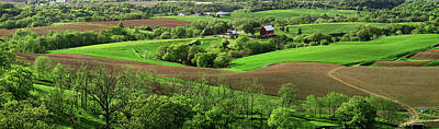 Mississippi River Scene Photograph - Spring In The Mississippi River Valley by Panoramic Images