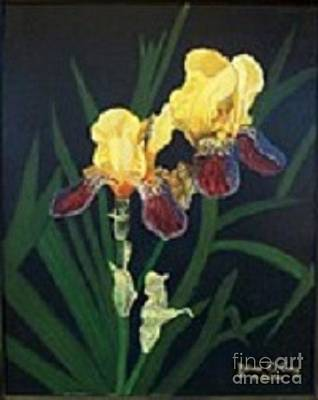 Yvonne Cacy Painting - Spring Iris's by Yvonne Cacy