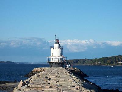Breakaway Photograph - Spring Point Ledge Light by Catherine Gagne