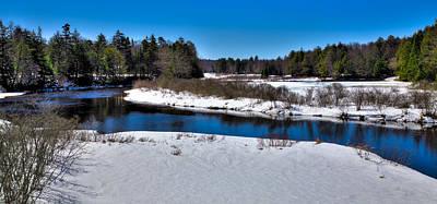 Snow Scenes Photograph - Spring Thaw On The Moose River by David Patterson