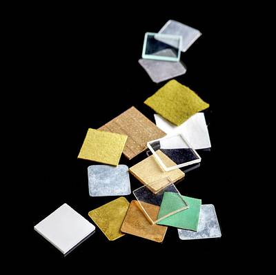 Comparing Photograph - Squares Of Everyday Materials by Science Photo Library