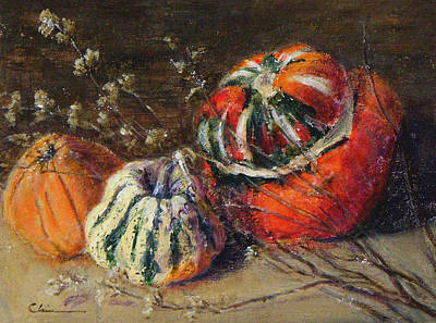 Painting - Squashes by Chisho Maas