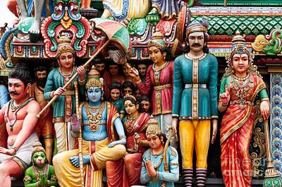 Hindu Mythology Photograph - Sri Mariamman Temple 06 by Rick Piper Photography
