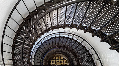 St. Augustine Lighthouse Staircase St. Augustine Florida Art Print