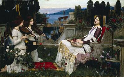 Waterhouse Painting - St Cecilia by Philip Ralley