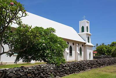 St Francis Church, Kalaupapa Town Art Print by Douglas Peebles