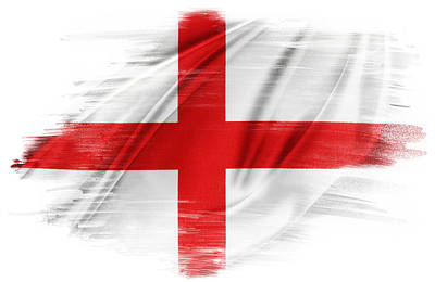 St George's Cross Art Print by Les Cunliffe