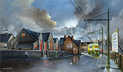 Old School Bus Painting - St. James School by Ken Wood