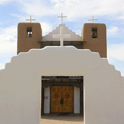 Pueblo Photograph - St. Jerome Chapel - Taos Pueblo by Mike McGlothlen
