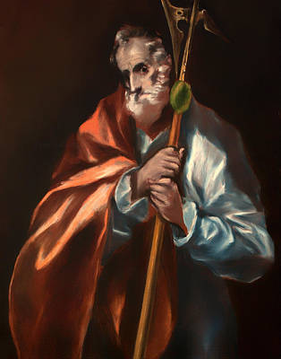 Saint Jude Painting - St Jude Thaddeus by Mountain Dreams