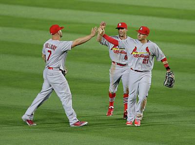 Photograph - St Louis Cardinals V Atlanta Braves by Mike Zarrilli