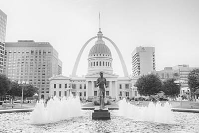 Photograph - St. Louis Missouri Downtown  by David Haskett