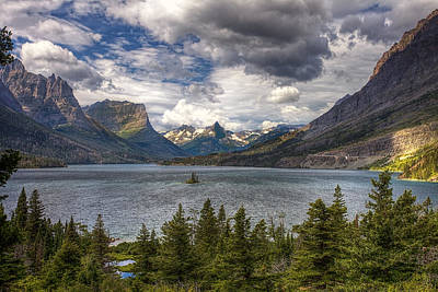 National Park Photograph - St. Mary's Lake by Andrew Soundarajan
