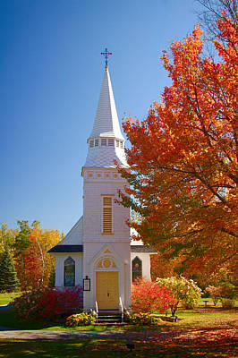 St Matthew's In Autumn Splendor Art Print