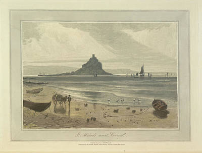 St. Michaels Mount Art Print by British Library