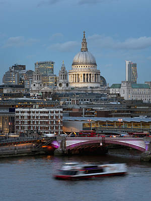 St. Paul_s Cathedral And Blackfriars_ Art Print by Charles Bowman