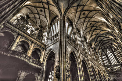 St Vitus Cathedral Prague Art Print