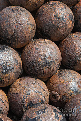 Photograph - Stack Of Cannon Balls At Castillo San Felipe Del Morro by Bryan Mullennix