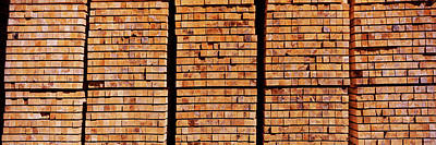 Sawmill Photograph - Stack Of Lumber At Sawmill, Eureka by Panoramic Images