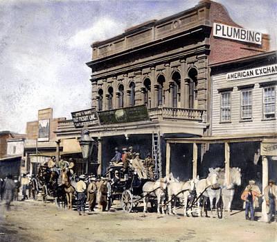 Wells Fargo Stagecoach Photograph - Stagecoach, C1866 by Granger
